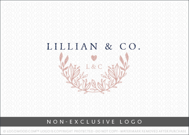 Lillian & Co Crescent Floral & Foliage – Non Exclusive Logo