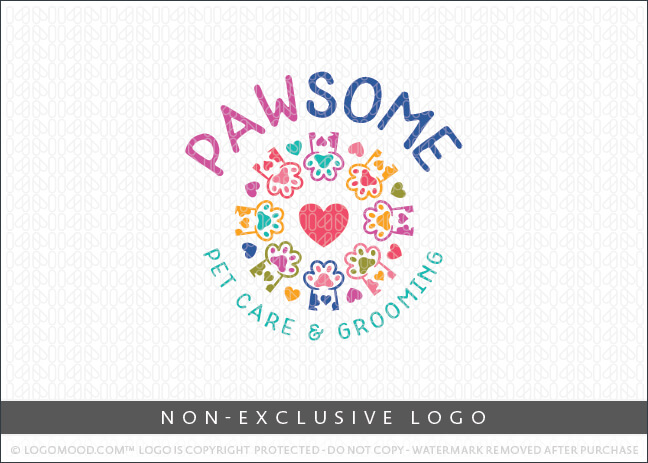 Paw-Some Pet Care – Non Exclusive Logo