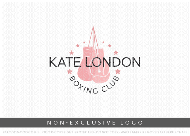 Pink Boxing Gloves Boxing Fitness Club Non-Exclusive Logo For Sale LogoMood