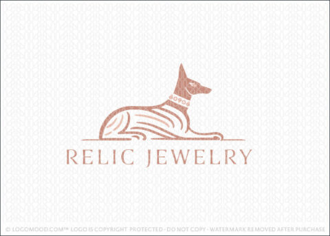 Elegant Egyptian Anubis Jackal And Jewels Logo For Sale Logo Mood