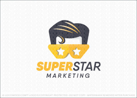 Superstar Superhero Logo For Sale LogoMood