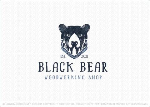 Black Bear Outdoor Woods & Mountain Landscape Logo For Sale Logo Mood.com