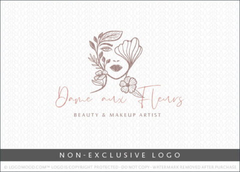 Natural Beauty Floral Flowers Beauty Spa Non-Exclusive By LogoMood.com