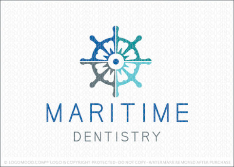 Nautical Maritime Dental Tooth Dentistry Logo for Sale LogoMood