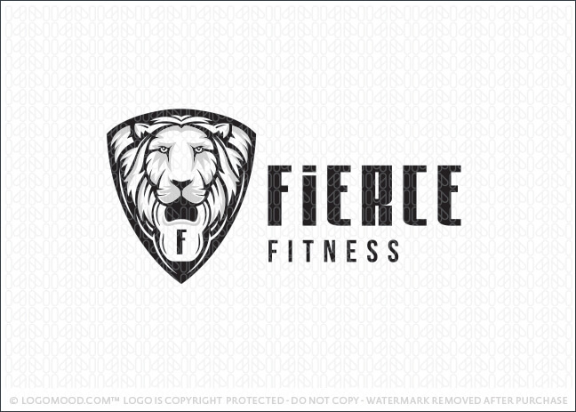 White Lion Fitness Logo For Sale LogoMood.com
