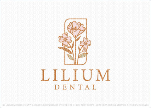Floral Blossom Dental Tooth Dentistry Logo Design For Sale