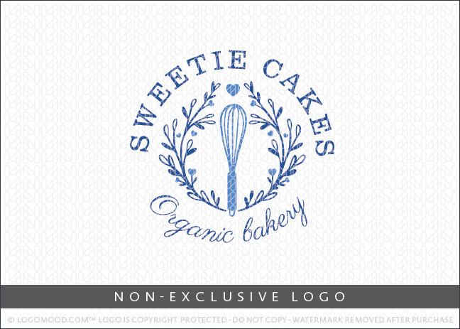 Blue Sweet Cakes Bakery Whisk Wreath – Non Exclusive Logo