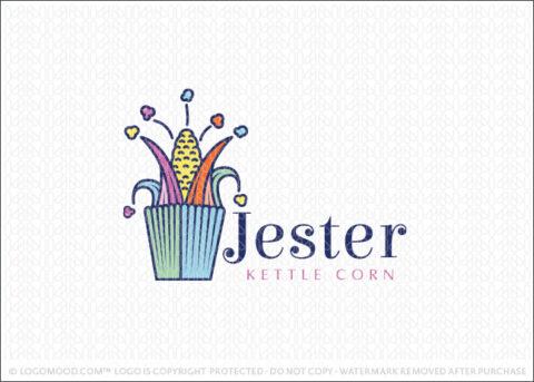 Jester Hat Corn On The Cob Kettle Corn Logo For Sale Logo Mood.com