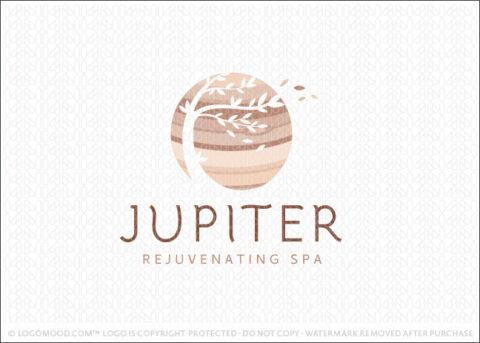 Jupiter Planet Windy Tree Spa Logo For Sale LogoMood.com
