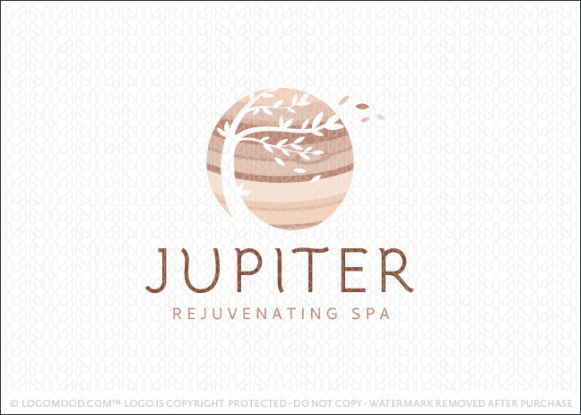Jupiter Planet Windy Tree Spa Logo For Sale LogoMood.com