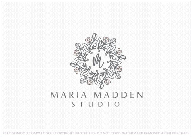 Elegant Floral And Leaf Mandala Logo For Sale Logo Mood.com