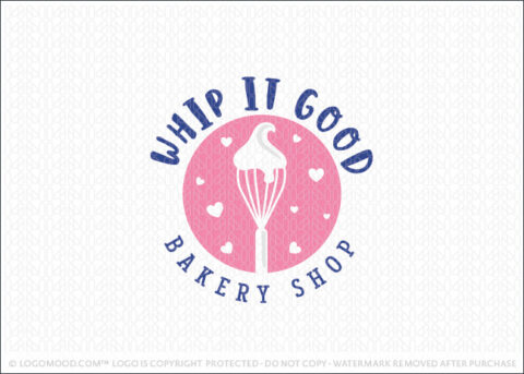 Bakers Whisk With whipped topping Logo For Sale LogoMood.com