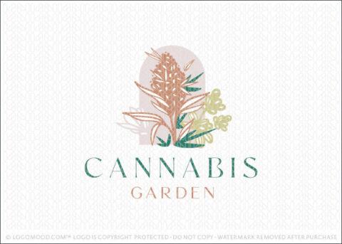 Cannabis Garden CBD Natural Health Logo For Sale Logo Mood.com