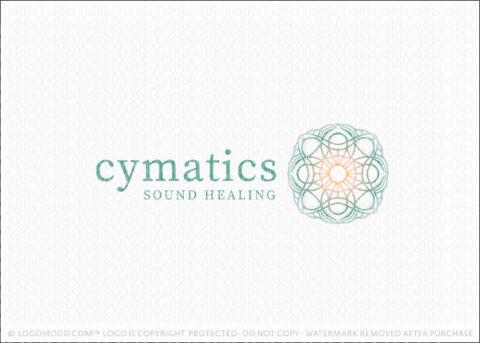 Cymatic Vibrational Sound Pattern Logo For Sale LogoMood.com