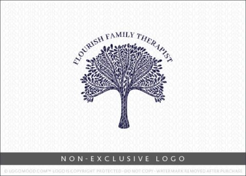 Leafy Tree Canopy Non-Exclusive Logo For Sale LogoMood