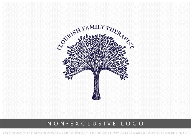 Whimsical Leafy Canopy Tree – Non Exclusive Logo