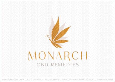 Monarch Butterfly CBD Remedies Cannabis Logo For Sale By LogoMood.com