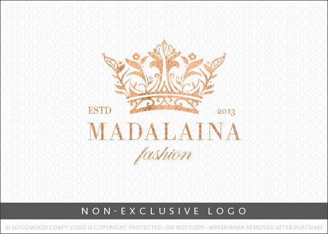 Floral Royal Crown – Non Exclusive Logo